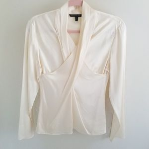 Lafayette 148 Cream Silk Blouse